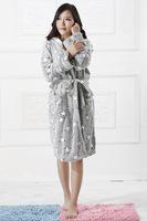 warm women nightdress for winter and autumn dress