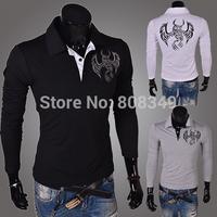 New!!!! Korean style Men 's slim fit long sleeves T-shirt