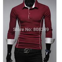 New!! Korean style Mens slim fit long sleeves T-shirt