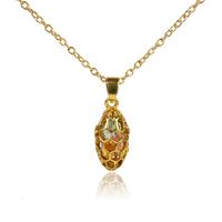 New brand hollow gold plated multicolour crystal drop pendant unique design Chain  pendant for women 2015 charm necklaces