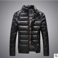 2015 Original Free shipping winter new Korean men thick leather jacket warm down jacket short paragraph Slim