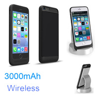 Wilress Desktop 3000mAh External Power bank case pack backup battery Charge cover for iPhone 6