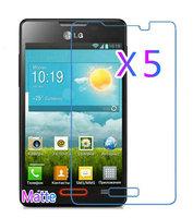 5pcs Matte Anti Glare Screen Protector for LG Optimus L4 II E440 Protective Film Screen Guard Retail Packaging