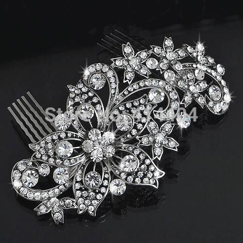 Crystal Flower Handmade hair comb jewelry Fashion Bridal hair Accessories Wedding hair Jewelry Valentine s Day