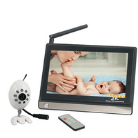 2.4GHz 4 channels 7 inch LCD screen wireless video baby monitor support 4 cameras Free Shipping