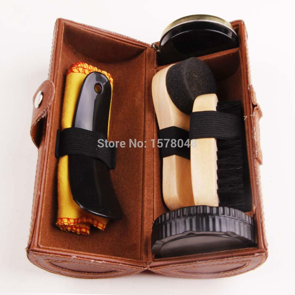 shoe care kit brush sponge leather shoes care