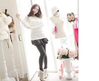 leggingKorean version of the cotton leggings warm winter fake two -piece backing hakama [ fish ] balance due plus velvet 420 g