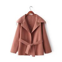 Korean Fashion Candy Colors Girl Coats Long Sleeve Turn Down Collar 4 Colors Women Outerwear NAS3779