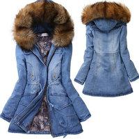 2014 Hoodie Women Coat autumn Winter Woolen Long Sleeve Overcoat  Slim abrigos mujer Casacos Female Fur Collar Jeans Wear Jacket