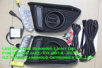 E4 Emark Led Daytime Running Light Fog Lamp DRL For Honda Jazz Fit 1:1 Replacement Free Shipping