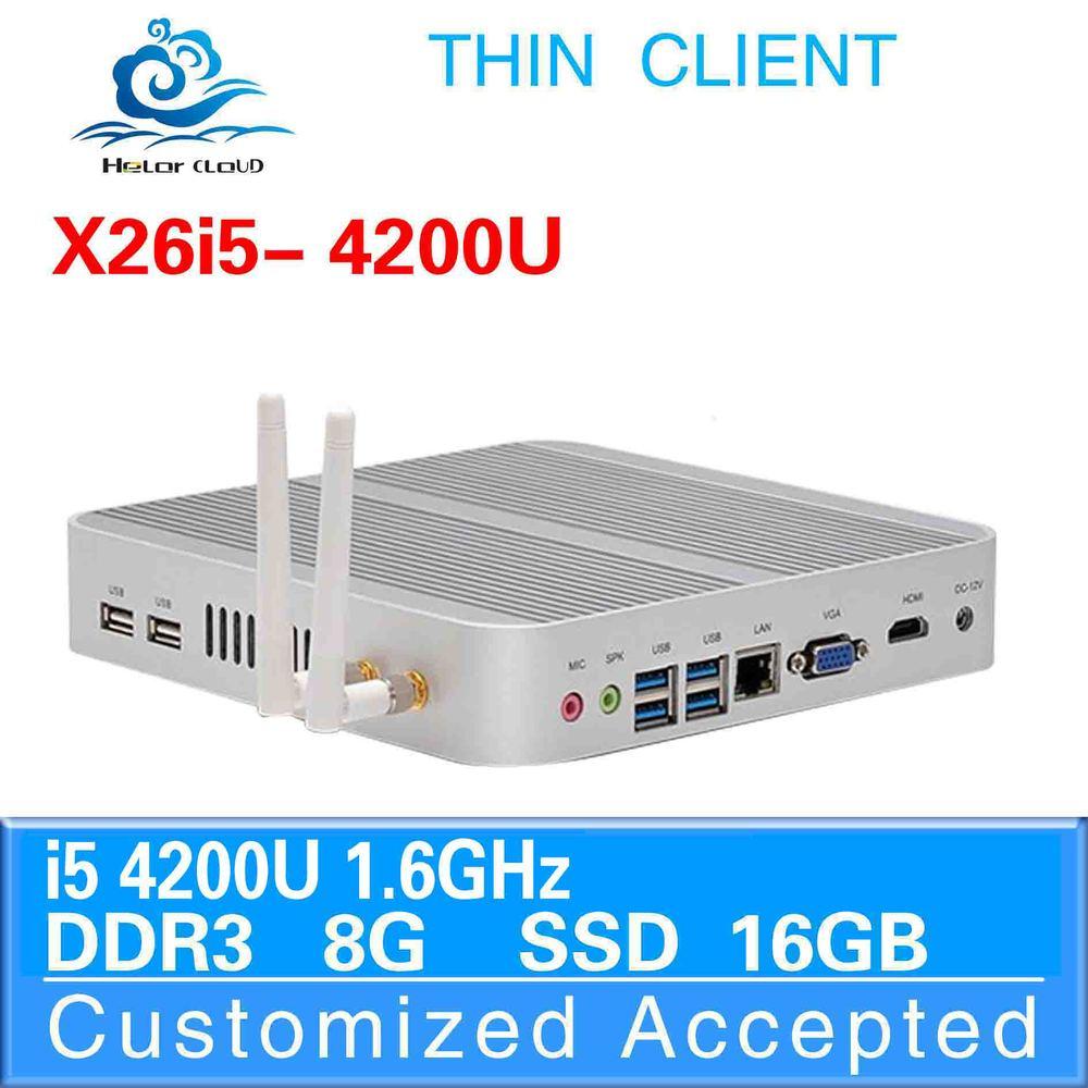 GPU onboard 512M X26-I5 4200u 8G ram 16G ssd linux embedded thin client cheap mini pc thin htpc support youtube(China (Mainland))