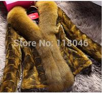 z86 New European fashion women genuine mink fur coat luxury jacket for lady winter 2014 overcoat short coats women's clothing
