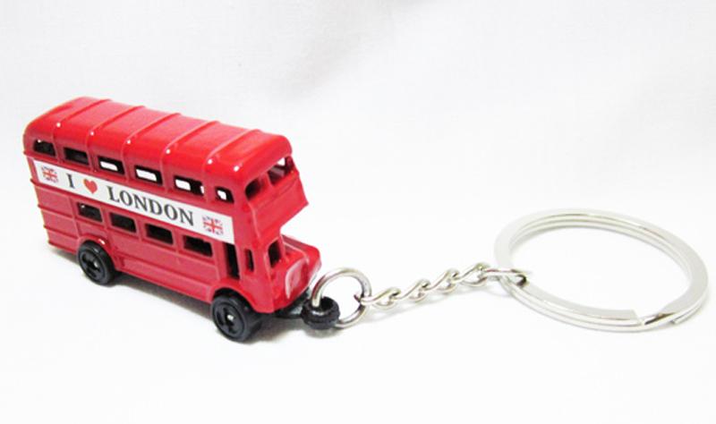 UK London keyring London souvenirs London key chains 2015 new London bus key ring free shipping !(China (Mainland))