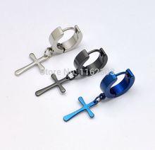 Fashion new cross earring/stainless steel earrings/man earrings/fashion jewelry/free shipping