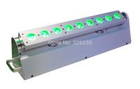 1pcs/lot 9pcs*18W 6IN1 RGBWA+UV Color Battery Wireless Led Washer Light  Led Moving Head Wall Washer DMX 512 Led Bar Light