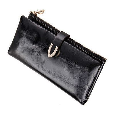 Free Shipping Women Fashion Genuine Leather Wallet Fashion Wristlets Clutch 19cm*9.5cm*1.5cm(China (Mainland))