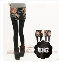 1 - bt57 2014 women's faux two piece plus velvet thickening legging skirt j-23