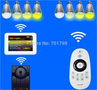 8pcs 2.4Ghz RF LED WW/WC Bulb 9W + one WIFI controller+ one 2.4Ghz RF4-zone touch dimmer