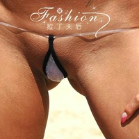 European style New arrival women perspective sexy thong panties invisible g-string for women free shipping