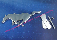 Auto Metal Chrome Running Horse for Mustang Front Grille Grill Badge Emblem