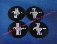 4 x Running Horse for car tuning 56mm Hub Caps Wheel Center Cover emblem Bedge