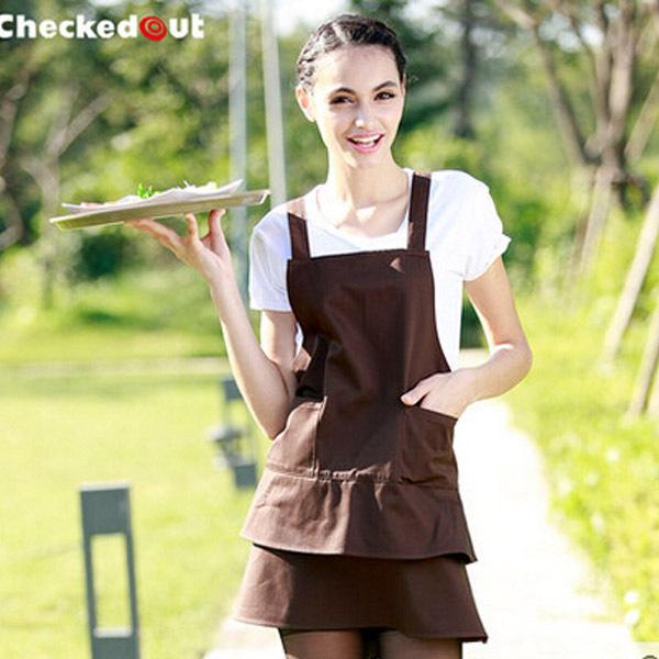 Free Shipping Korean Hot Non-woven Fabric Waterproof Anti-Oil Kitchen Sleeves Apron E157(China (Mainland))