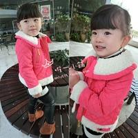 children's clothing wholesale Korean winter coat lamb cashmere coat lapel short zipper in Europe and America