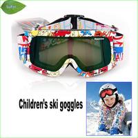 FG033 Kids Double Lens Ski Goggles Anti-fog Professional Children Ski Glasses For 3~10 Years Old Children
