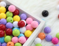 DIY handmade beaded accessories material acrylic solid dispersion beads round bead Candy color color beads 10mm
