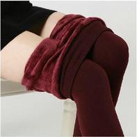 Winter women warm leggings pants Warm Stirrup Leggings Plus velvetFashion Sexy With a windbreak/ snow boots