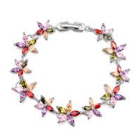 new brand design fashion women golden bracelet TOP18K dazzling flowers Zircon Bangle Bracelet 109051