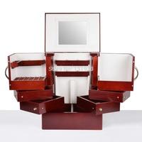 LORIS OEM HOT wooden cosmetics storage box desktop large cosmetic cabinet with multi-layer cosmetic organizer MS001