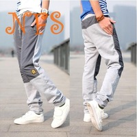 2015 new Spring men's clothing fashion casual pants ,upset and warm applique patchwork male sports pants