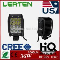 2pcs  36W Cree LED Work Light Bar Lamp Tractor Boat Off-Road 4WD 4x4 12v 24v Truck SUV ATV Combo Super Bright Running Light