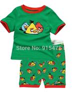 T0134 2015 New design 100% Cotton Children's wear ,Baby short sleeve pajamas,Kids pyjamas boys girls sleepwear set 6set/lot