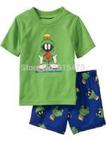 T01002 2015 New  design 100% Cotton Children's wear ,Baby short sleeve pajamas,Kids pyjamas boys girls sleepwear set 6set/lot