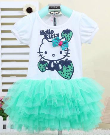 2015 new arrival girls clothing dress Hello kitty cartoon KT wings tutu dress Kids love children's clothing free shipping40(China (Mainland))