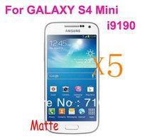 Retail Packing 5x Matte Anti Glare LCD Screen Protector Guard Cover Film Shield for Samsung GALAXY S4 MINI i9190 i9192 i9195