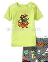 T01003 2015 New design 100% Cotton Children's wear ,Baby short sleeve pajamas,Kids pyjamas boys girls sleepwear set 6set/lot