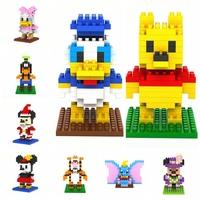 6pcs/lot LOZ Cartoon Diamond Granule Blocks Builing Bricks Educational DIY Set Toys for Children Gift Winnie/Minnie/Goofy