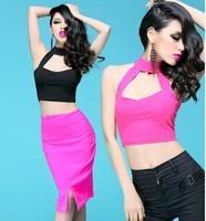 Fashion dj female singer ds costume dance jazz female singer tube top spaghetti strap vest