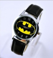 DC Universe Batman The Dark Knight Superhero Black Leather Band Fashion Watch Xmas Wrist  Free Shipping