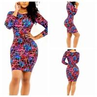 2015 hot-selling sexy print slim dress luxury sexy bodycon for women casual dress vestidos yh9081