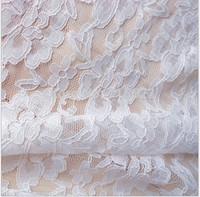 2014120701  Free Shipping  Nylon  Lace Fabric For Dress naturewhite