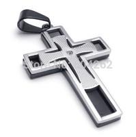 Wholesale + retail , 316L Stainless Steel men's cross Pendant Necklace 10021935(074059)