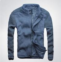 Men's DSQ brand Padded coat male Korean Slim striped velvet warm coat male D2 jacket outerwear