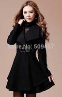 casacos femininos 2014 new women's winter wool woolen coat Korean woolen outerwear coat jacket and long sections