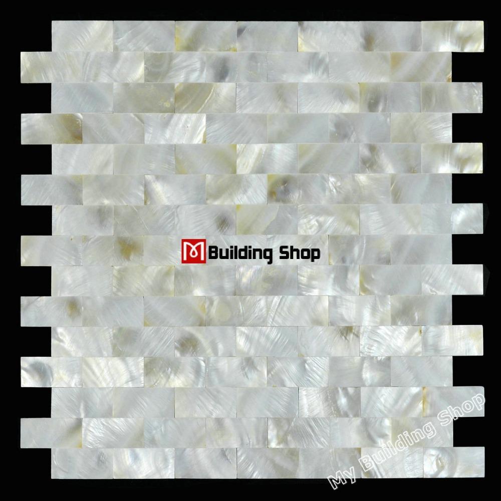Metrotegels Keuken Kopen : Mother of Pearl Mosaic Wall Tile Kitchen Backsplash