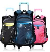 Kids Children School Trolley Backpack Student Book Bag Kids Rolling Luggage On Wheels Back Pack Detachable Backpack Mochila