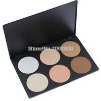 Alvin`sPRO 6 Color Makeup Blush Face Blusher Powder Palette Contour Concealer Powder 1# Free Shipping